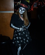 Skull Girl Homemade Costume
