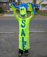 Sky Dancer Sale Sign Homemade Costume
