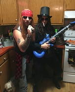 Slash & Axl from Guns N Roses Homemade Costume