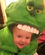 Creative homemade costumes for babies - Slimer from Ghostbusters
