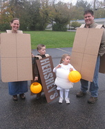 Fun family Halloween costume ideas - Smore's Family Homemade Costume