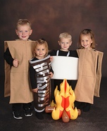 S'mores Kids Homemade Costume