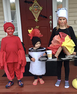 S'mores, Marshmallow and a Crab Homemade Costume