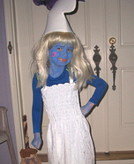Homemade Smurfette Costume for Girls
