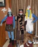 Smurfette, Vexy Smurf & Grumpy Cat Homemade Costume