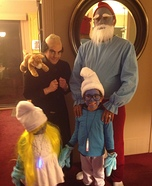 Smurfs Family Homemade Costume