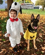 Snoopy and Charlie Brown Homemade Costume
