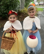 Snow White and Cinderella Homemade Costume