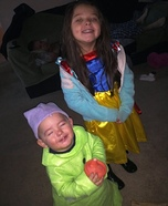 Homemade Snow White and Dopey Costumes