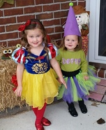 Toddler Snow White and Dopey Costume