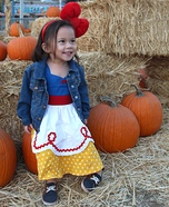 Snow White at Pumpkin Patch Homemade Costume