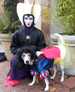 Costume ideas for pets and their owners: Snow White & The Evil Queen Costumes