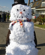 Homemade Snowman Costume