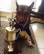 Soccer Player Dog Homemade Costume