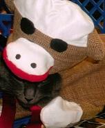Sock Monkey Cat Costume