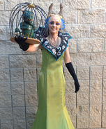 Sorceress Gazelda with Pet Dragon Homemade Costume
