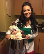 Chef with Spaghetti and Meatballs Costume