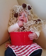 Homemade Spaghetti and Meatballs Costume