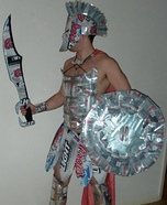 Homemade Spartan Warrior Costume