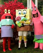 Sponge Bob and Friends Homemade Costume