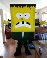 Spongebob Frankenstein Homemade Costume