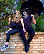Spooky Skeleton Soul Mates Homemade Costume
