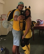 Squirtle and Pikachu Homemade Costume