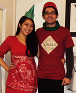 Sriracha and Tabasco Costume