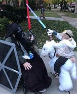 Star Wars: Luke Skywalker riding Tauntaun and  TIE fighter Costume