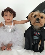 Star Wars Leia and Darth Vader Homemade Costume
