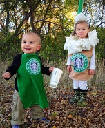 DIY baby costume ideas: Starbucks Baby Costumes