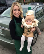 Parent and baby costume ideas - Starbucks Barista and Frappuccino Costume