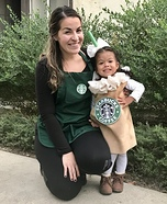 Starbucks Baristas and Caramel Frap Homemade Costume