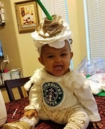 Starbucks Carmel Frap Baby Homemade Costume