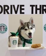 Starbucks Drive Thru Homemade Costume