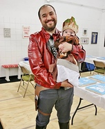 Starlord and Baby Groot Homemade Costume