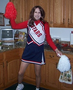 Homemade STARS Cheerleader costume