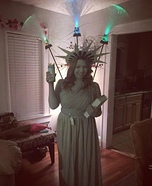 DIY Statue of Liberty with Fireworks Costume