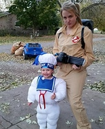 Parent and baby costume ideas - Stay Puft Marshmallow Baby Costume