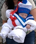 Homemade Stay Puft Marshmallow Baby Costume