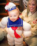 DIY baby costume ideas: Stay Puft Marshmallow Baby Costume