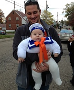 DIY Stay Puft Marshmallow Man Baby Costume