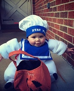 Stay Puft Marshmallow Man Baby Costume DIY