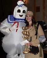 Stay Puft Marshmallow Man & Ghostbuster Homemade Costume