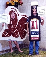 Steak and Steak Sauce Homemade Costumes