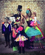 Fun family Halloween costume ideas - Steampunk Alien Invasion Homemade Costume