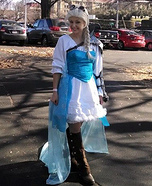 Homemade Steampunk Elsa Costume