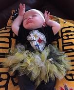 Steelers Girl Baby Homemade Costume