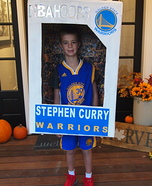 Stephen Curry Basketball Card Homemade Costume