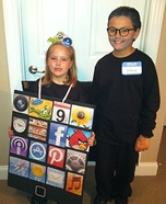 Steve Jobs and his iPad Halloween Costume